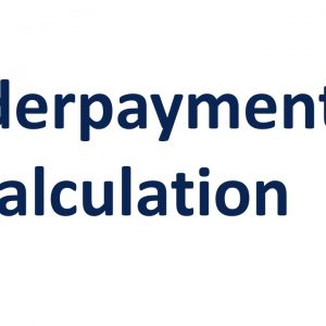 Underpayment Calculation
